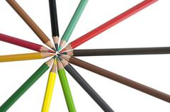 Color colourful pencil background palette wood star Stock Photos