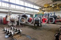 Steam locomotives in depot, Banovici, Bosnia and Hercegovina Stock Photos
