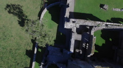 4k Aerial Shot of Game of Thrones Style Castle and a Queen Walking Stock Footage
