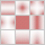 Set of red heart pattern designs Stock Illustration