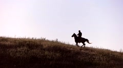 Horseman moving in slow motion. Stock Footage