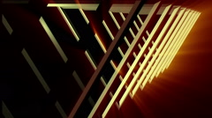 3d animation of concentric simple triangles tunnel Stock Footage