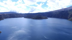 High Above Lake Cuicocha Stock Footage