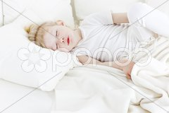 Sleeping little girl Stock Photos