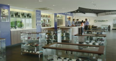 Interior view of consumer electronics store showroom Stock Footage