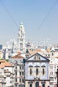 Quarter of Baixa, Porto, Portugal Stock Photos