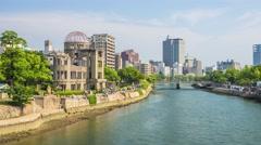 Hiroshima's Atomic Dome Stock Footage