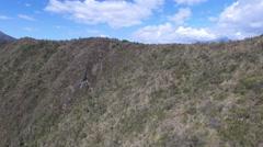 Over the Volcano's Ridge at Cuicocha Stock Footage