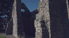 4k Shot of a Medieval Castle in Ireland Stock Footage