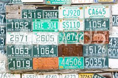 Registration numbers, USA Stock Photos