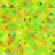 Lime color abstract triangle mosaic background Stock Illustration