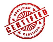Certified stamp concept illustration Stock Illustration