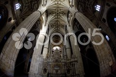 Interior of cathedral in Salamanca, Castile and Leon, Spain Stock Photos