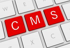 Cms keyboard concept illustration Stock Illustration