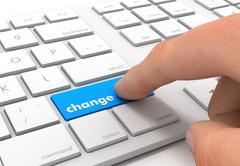 Change keyboard concept illustration Stock Illustration
