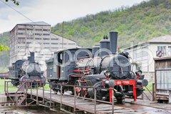 Steam locomotives, Resavica, Serbia Stock Photos