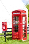 Telephone booth and letter box, Scotland Stock Photos