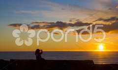 Sunset, Lista, Norway Stock Photos