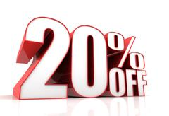 Twenty percent off sale concept illustration Stock Illustration