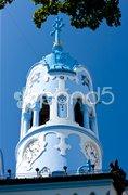 Detail of Church of Saint Elizabeth Hungarian called Blue Church, Bratislava, Sl Stock Photos