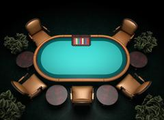 Poker table concept illustration Piirros