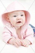 Baby girl's portrait Stock Photos