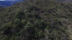 Up and Over the Hillside at Volcanic Lake Cuicocha in the Andes Stock Footage