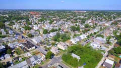 Aerial tour Dundalk Baltimore Maryland Stock Footage