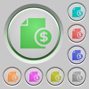 Dollar report push buttons Stock Illustration