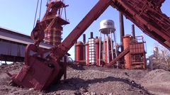 The abandoned Sloss Furnaces in Birmingham Alabama show a slice of America's Stock Footage