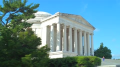 Tourists at the Thomas Jefferson Memorial Stock Footage