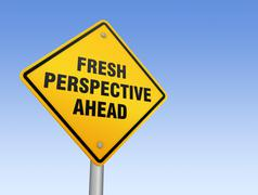 Fresh perspective ahead road sign Stock Illustration