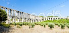 Pegoes Aqueduct, Estremadura, Portugal Stock Photos