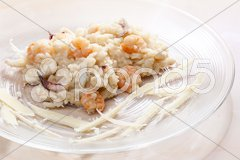 Italian risotto with seafood Stock Photos