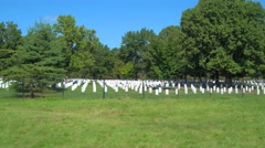 Stock footage Arlington National Cemetery headstones Stock Footage