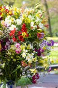 Flower bouquet, Keukenhof Gardens, Lisse, Netherlands Stock Photos