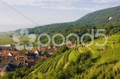 Village in Alsace, France Stock Photos