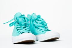 Pair sneakers isolated on white Stock Photos