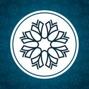 Snowflake winter and christmas design Stock Illustration
