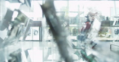 Couple shopping in consumer electronics store showroom Stock Footage