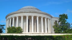 Tour footage Thomas Jefferson Memorial Stock Footage