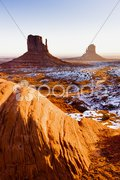 The Mittens, Monument Valley National Park, Utah-Arizona, USA Stock Photos