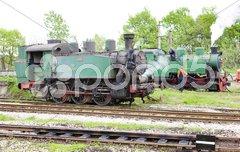 Steam locomotives, Kolubara, Serbia Stock Photos