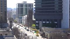 Establishing shot of downtown Birmingham, Alabama. Stock Footage