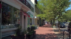 Shops in Washington DC 8th Street Stock Footage