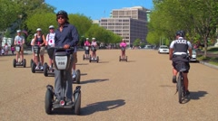 Segway tour in Washington DC Stock Footage
