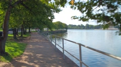 Tidal Basin and Thomas Jefferson Memorial Washington DC Stock Footage