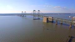 Delaware Memorial Bridge Stock Footage