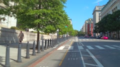 Bike lane Washington DC Stock Footage