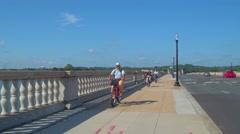 Video of the Arlington Memorial Bridge Stock Footage